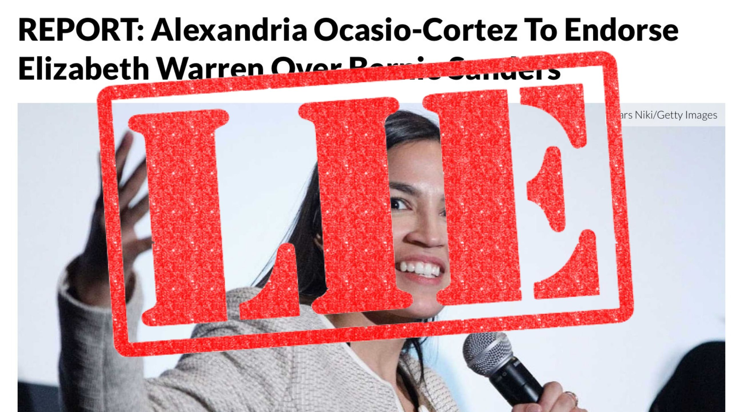 daily wire says aoc endorse warren