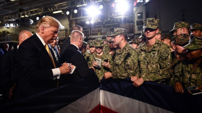 democratic candidates trump military budget votes