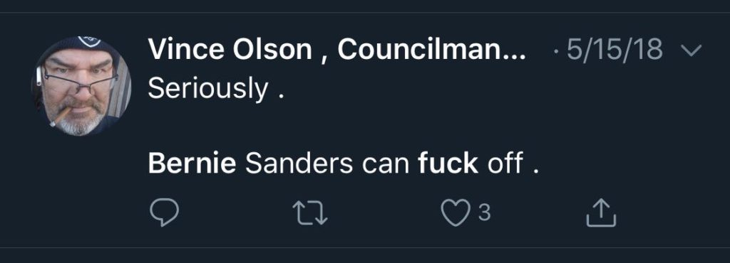 bernie can f off
