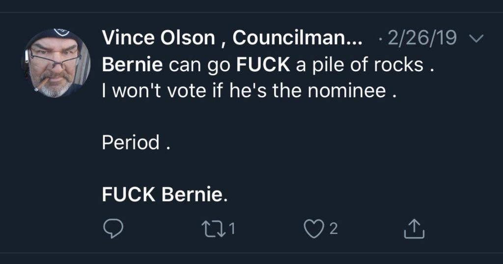 i wont vote for bernie if nominee