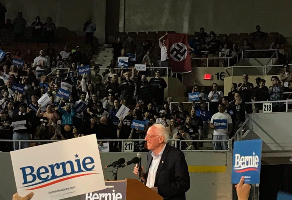 nazi at sanders rally arizona