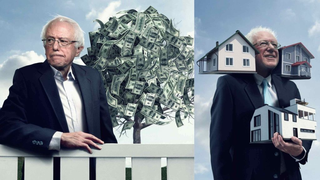 sanders politico money tree and houses
