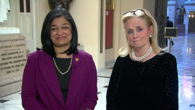 Representatives Jayapal And Dingell Press President Trump On Medicare For All